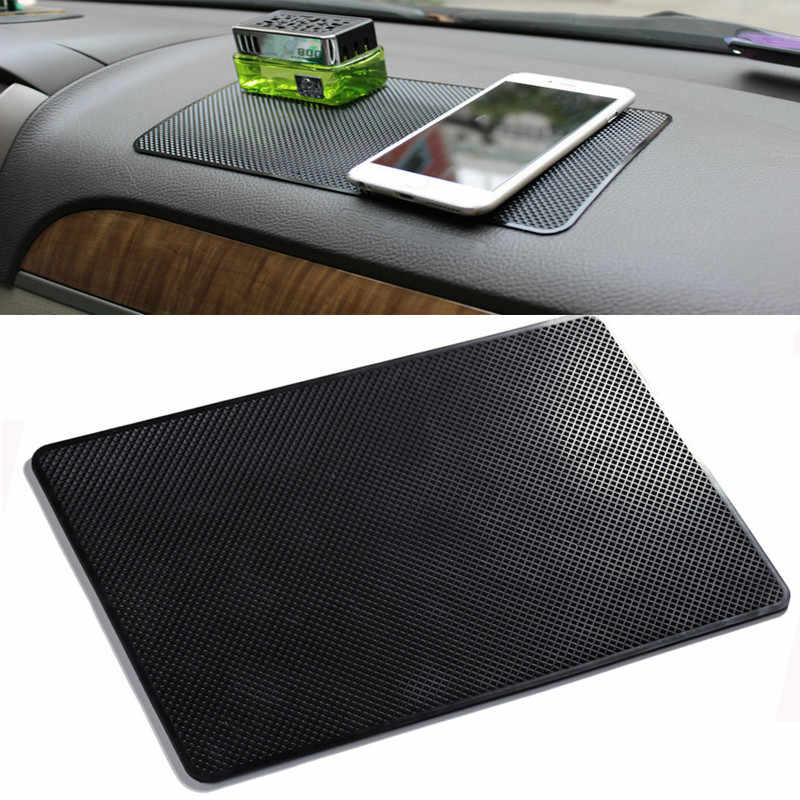 27x15CM Car Dashboard Sticky Anti-Slip PVC Mat Auto Non-Slip Sticky Gel Pad For Phone Sunglasses Holder Car Styling Interior