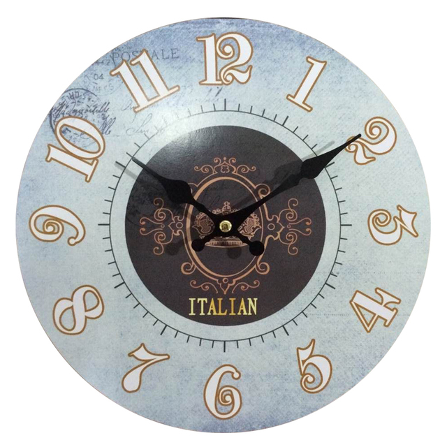 Italy Wood Wall Clocks New Arrival Antiqued Quartz Mdf Wooden Clock