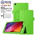 Imán case cubierta del cuero del soporte para asus zenpad c 7.0 z170c z170mg z170cg tablet + protector de pantalla + stylus
