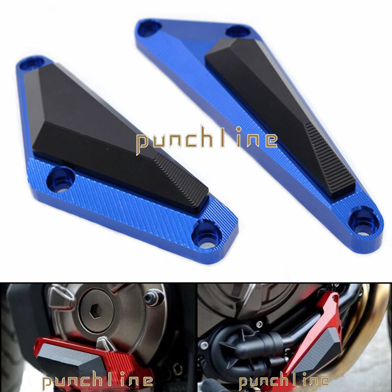 For YAMAHA MT-07/ FZ-07 MT07/FZ07 2014-2016 Motorcycle CNC Aluminum Engine Protector Guard Cover Frame Slider Blue for yamaha mt07 mt 07 fz mt 07 fz07 2014 2017 cnc motorcycle crash pads frame sliders protector cover motorbike accessories part