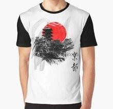 f1c43202c All Over Print Women T Shirt Men Funny tshirt Kyoto Japan Graphic T-Shirt