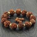 Contas Bodhi pulseiras de tamanho de cerca de 1.5 cm Nepal sangue Bodhi contas com bege spacer pulseira jóias mulheres homens jóias 003