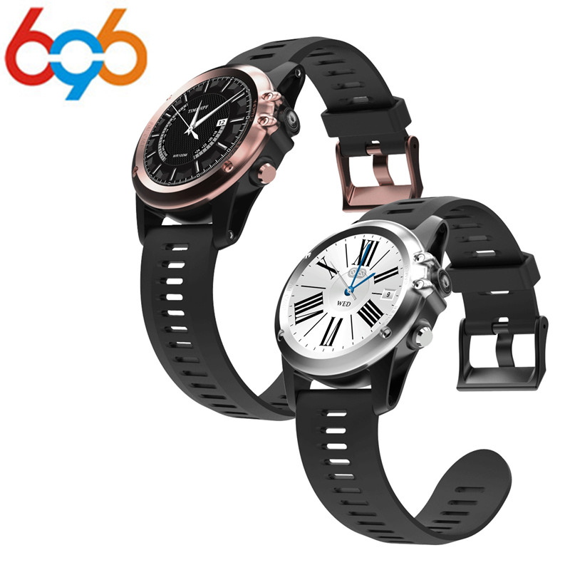 696 H1 MTK6572 IP68 GPS Wifi 3G Camera Smart Watch Waterproof 400*400 Heart Rate Monitor 4GB 512MB For Android IOS PK KW18 DZ09 все цены