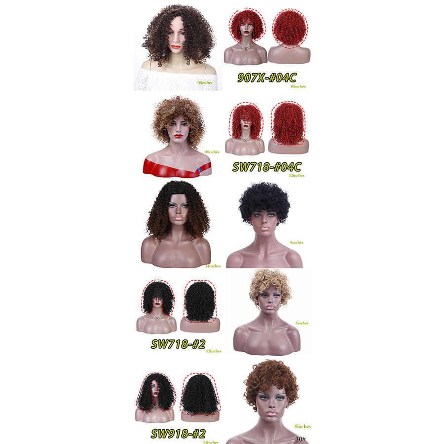 MUMUPI fashon Высокое качество красивые короткие коричневые волосы кудрявые парики афро кудрявый парик синтетические парики для женщин