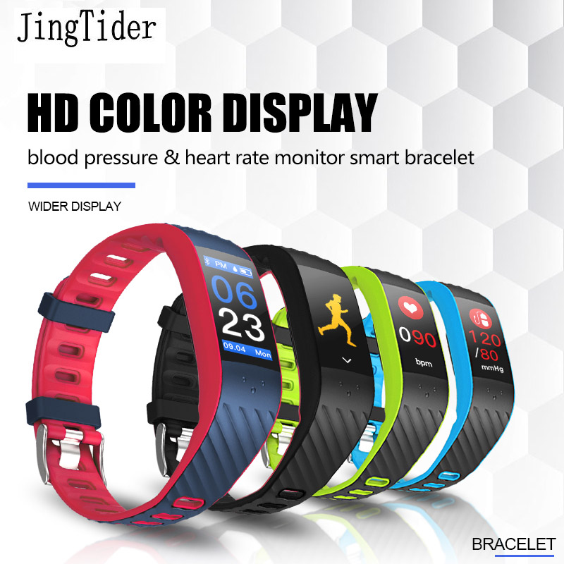 Color Screen Sport Smart Bracelet P4 0.96 inch Blood Pressure Heart Rate Monitor Bluetooth Smart Band Wristbands For Android IOS image