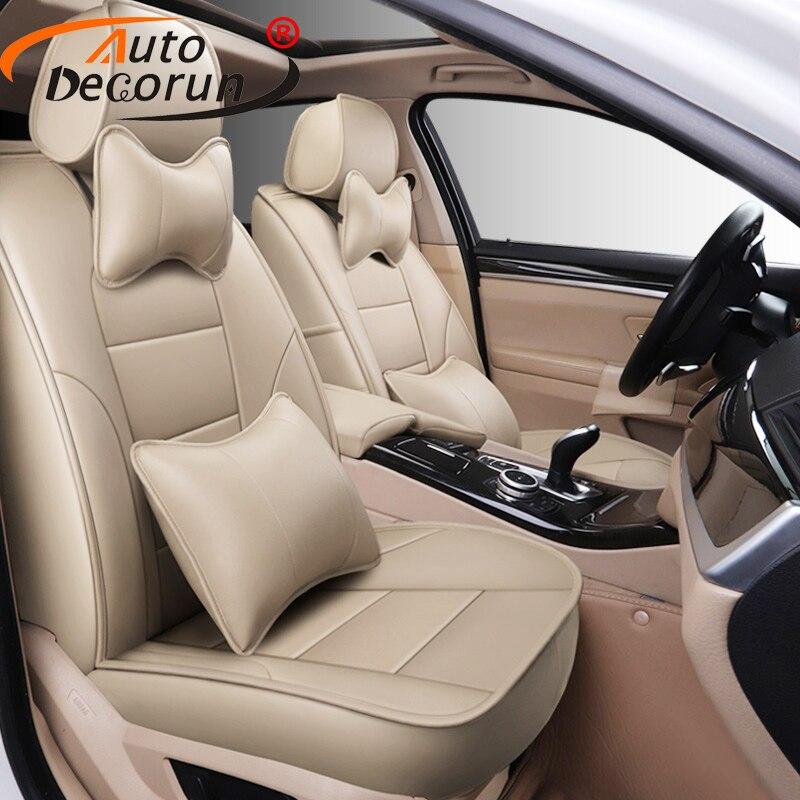 AutoDecorun peau de vache automobile housses de siège pour Ford S-MAX 2008-2012 housse de siège en cuir voiture prend en charge 5 et 7 accessoires de coussin de siège