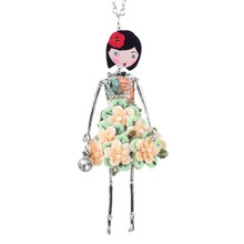 Doll Necklace Dress Trendy Long Chain