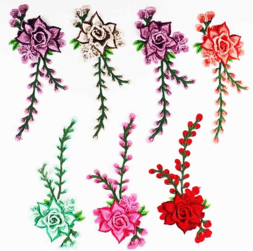 Вышивка 3D Роза цветок вышивать на пачках наклейки для одежды платье джинсы резные декоративные элементы для мебели нашивки для одежды волк аксессуары для одежды