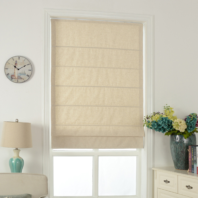Custom Made Solid Color Japanese Muji Style Curtain Cotton and Linen Roman Curtain Door Curtain for & Custom Made Solid Color Japanese Muji Style Curtain Cotton and Linen ...