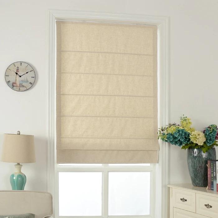 rideau de couleur unie sur mesure rideau de porte en coton et lin rideau romain pour baie vitree abat jour d automne