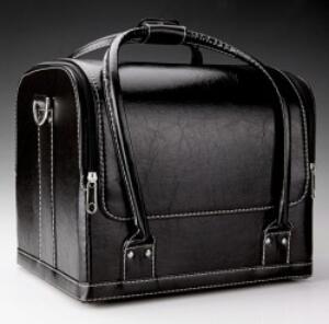 Gros plan sac en cuir-glaçure magiciens sac tours de magie accessoires Prop Gimmick mentalisme facile à transporter