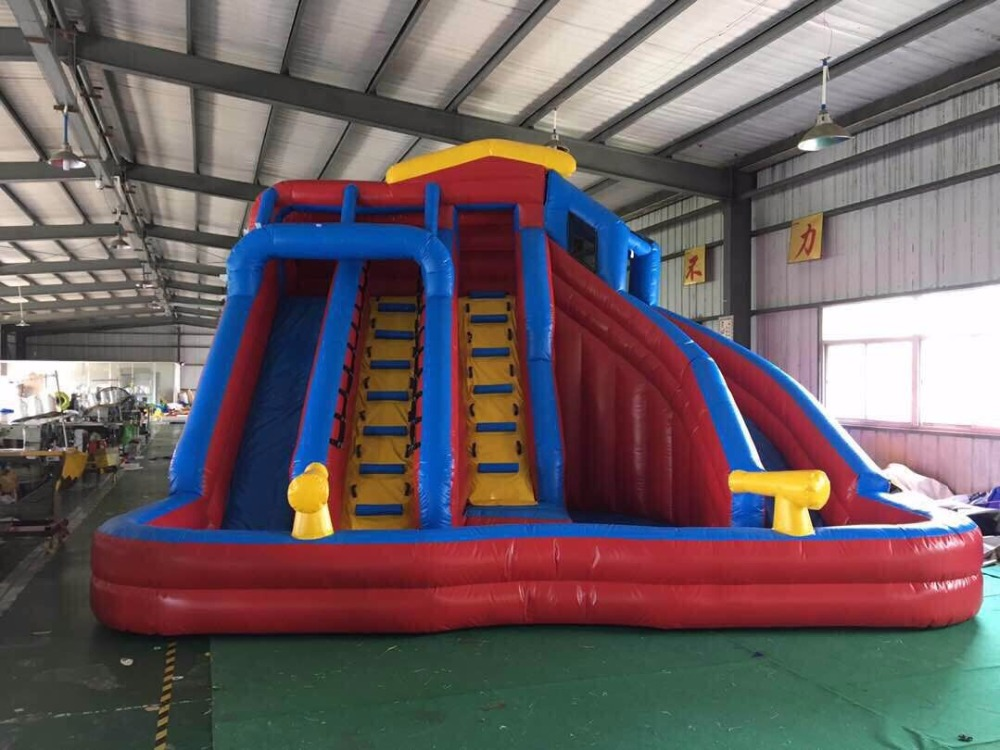 Factory direct inflatable fun city, inflatable trampoline, Inflatable pool slide