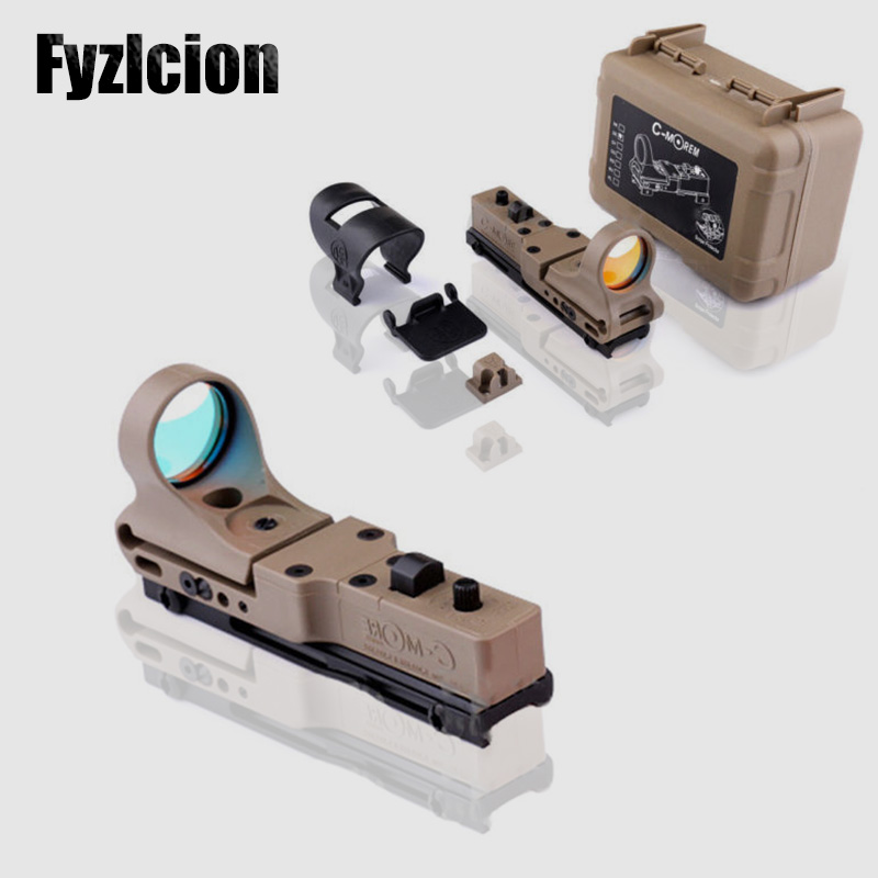 Adjustable C-MORE Systems Holographic Reflex Red Dot Sight Railway w/ Switch