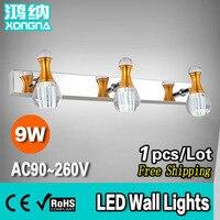 Free Shipping Bathroom Wall Lights 9W LED Light Source LED Mirror Lights
