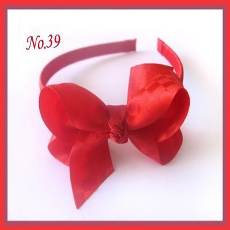 18 pcs 3 ABC Headband accessories Bow With New Ribbon 78 Styles