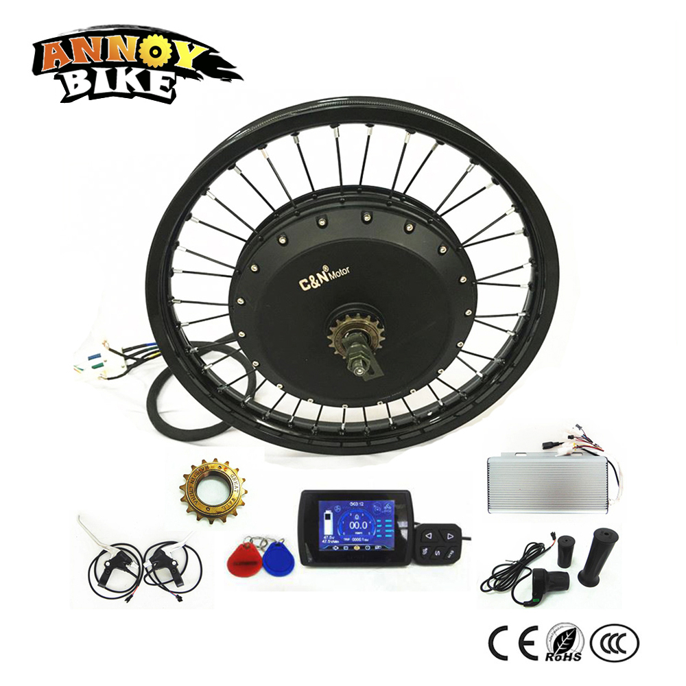 18 19 21 120km/h Crazy Bike 72v 8000w E bike conversion kit For Montain Bike Road Bike DIY ...