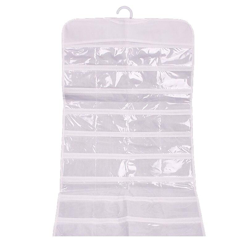 72 Unit Pocket Double Sided Hanging Jewelry Organizer Storage Bag Case Holder