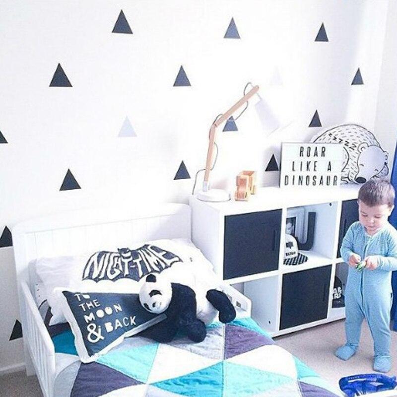 Barevný trojúhelník DIY Nástěnná samolepka pro děti Minimalismus Severský styl Tapeta Obývací pokoje Plakát Nástěnné malby Domácí dekorace