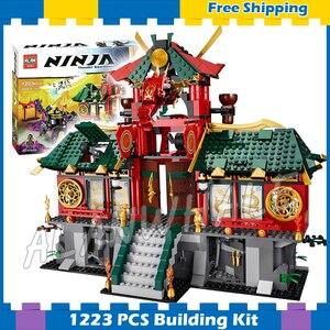 1223 шт Bela 9797 новая битва за город ниндзя наборы модели строительные блоки кирпичи Классические игрушки-подарки совместимы с