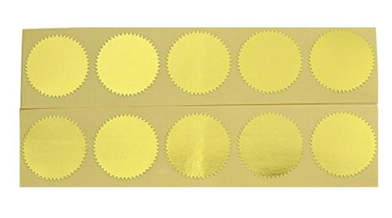 100pcs Zlato Vintage Embosser Pečat Pečat Prazan Certifikat - Umjetnost, obrt i šivanje - Foto 6