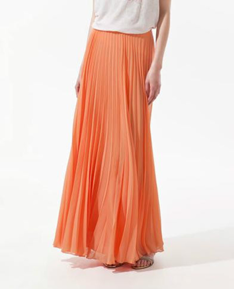 Buy Tea Length Pleated Skirt Gray At Sammydress Chinese