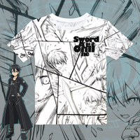 Novelty Fashion Anime Cartoon Sword Art Online T Shirt TShirt 100 Cotton Short Sleeve SAO T