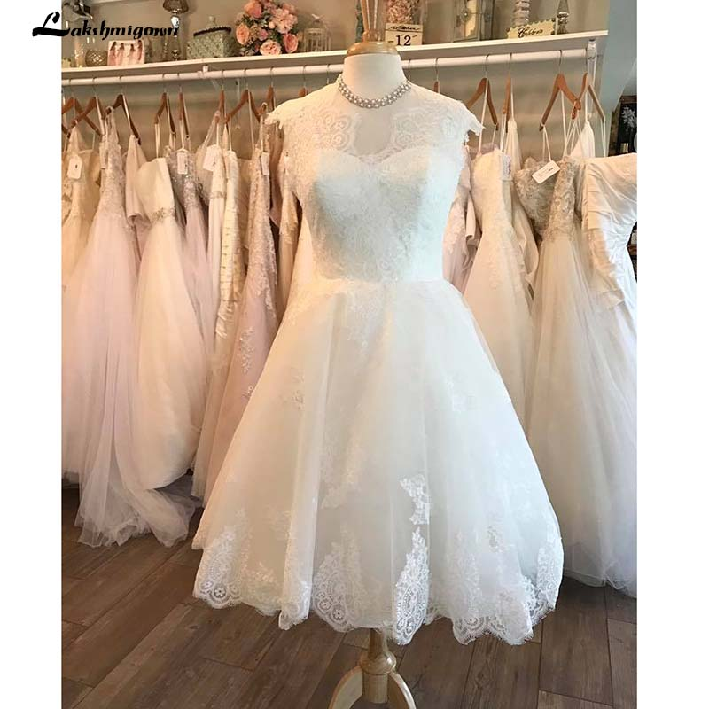 Short Wedding Dresses 2019 Lace Short Beach Wedding Dress