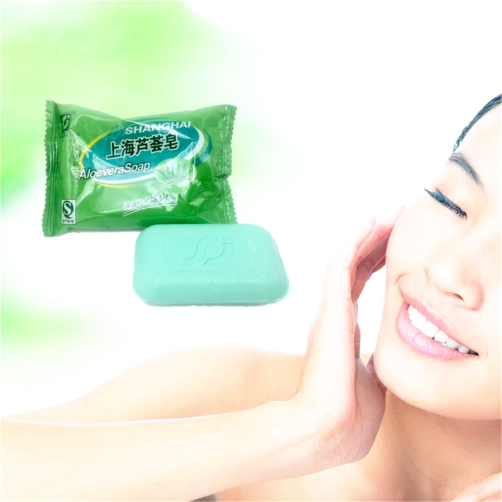 Shanghai ALOEVERA Gentle Soap For Body Bath Skin Care 100% PURE NATURAL Hand Made Soap Handmade Soap 85g