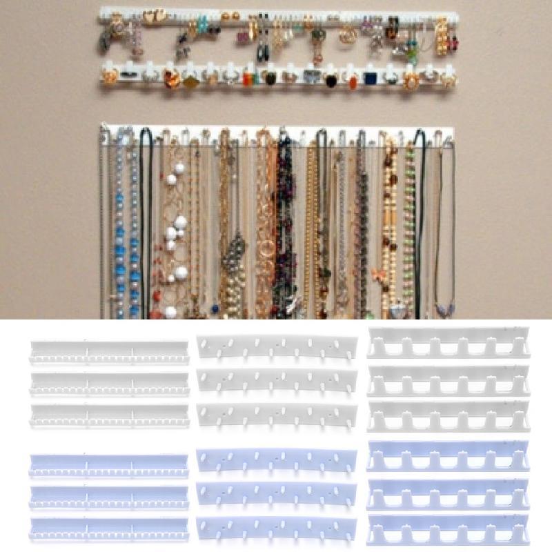 9 шт./компл. пластиковые крючки для хранения ювелирных изделий, вешалка для клейкой пасты, стойка для украшений, липкий крючок для демонстрац...