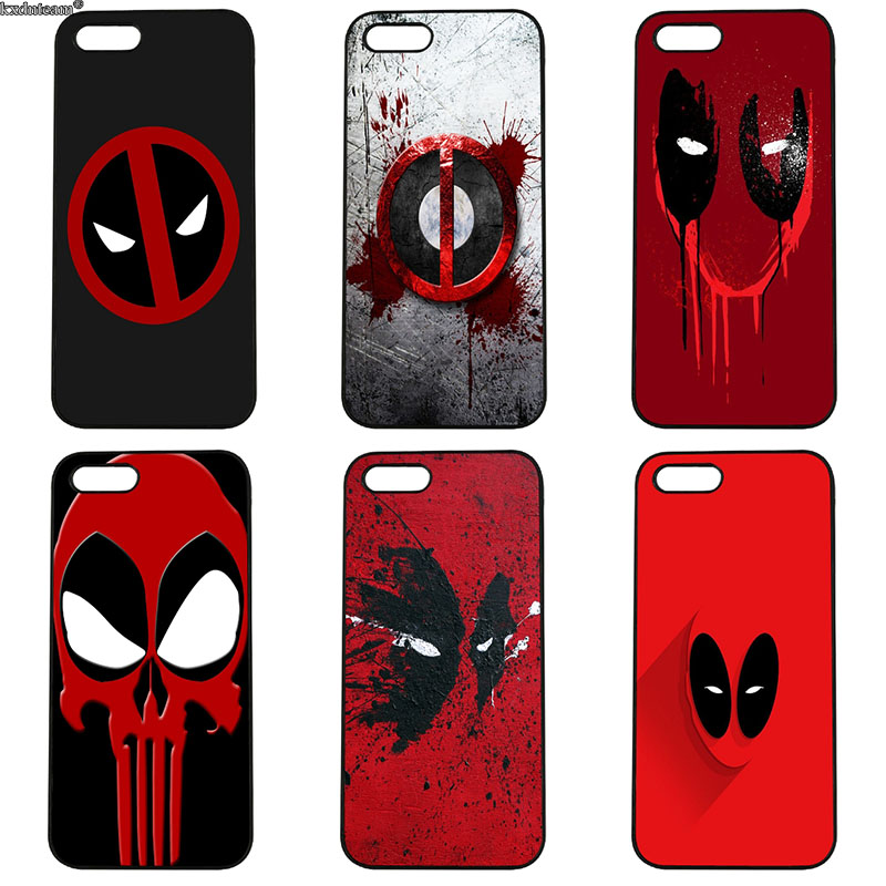 Cell Phone Case Deadpool Super Hero Logo Hard PC Plastic Cover for iphone 8 7 6 6S Plus X 5S 5C 5 SE 4 4S iPod Touch 4 5 6 Shell