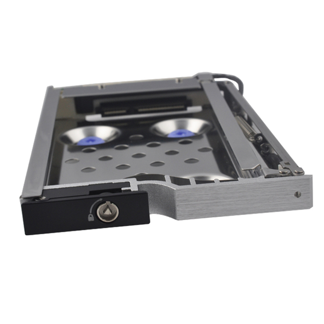 2.5in single bay Anti-Vibration proof SATA internal Aluminum case for Mobile rack