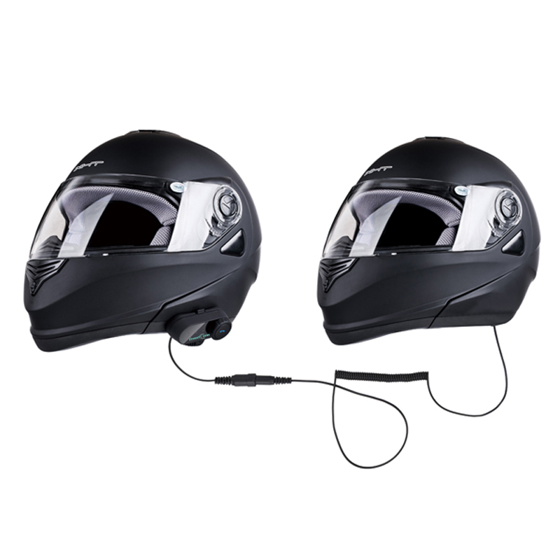 T-COM 02S 300 Hours Standby Motorcycle Bluetooth Wireless Helmet Intercom System for Rider and Passenger New Version t com 02 300 hours standby gps voice navigation bluetooth helmet headset without intercom function