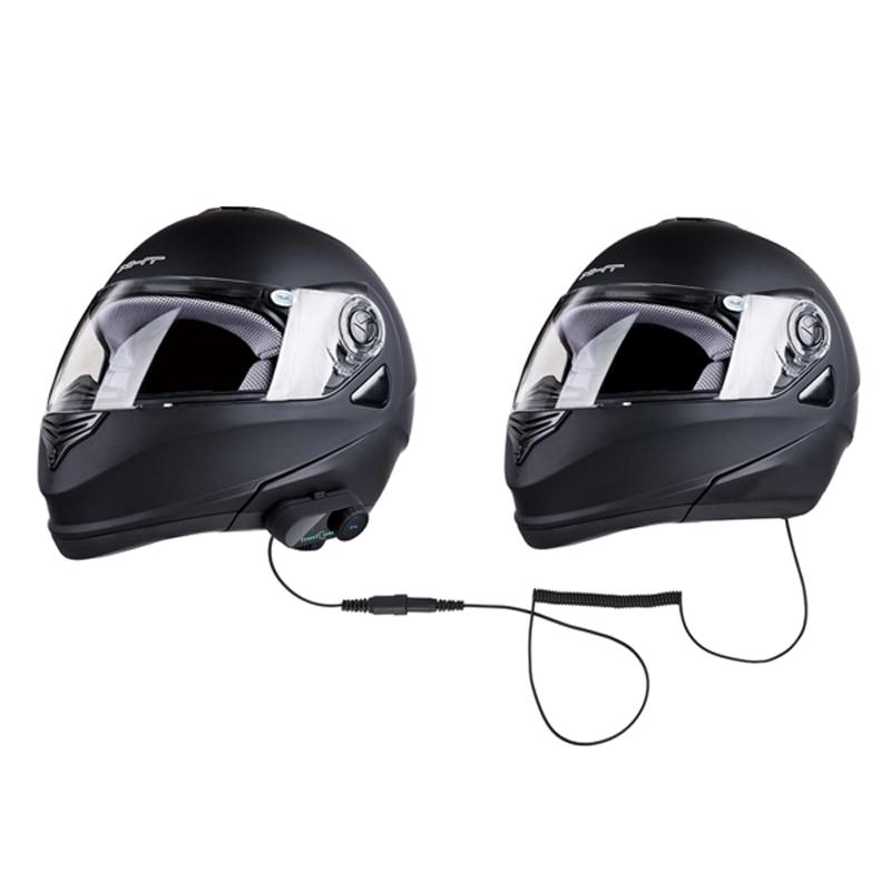 Т-ком 02С 300 часов в режиме ожидания беспроводной связи Bluetooth мотоцикл шлем домофон для водителя и пассажира новой версии