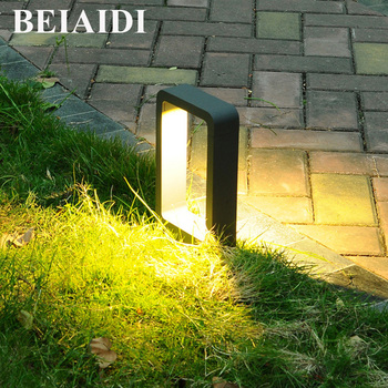 BEIAIDI Waterproof LED Garden Lawn Light Outdoor Landscape Pathway Corridor Bollard Light Villa Community Patio Lighting Fixture