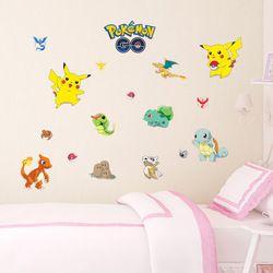 Pokemon Go Team Mystic Valor Instinct Pikachu Wall Sticker Mural Pokeball Decals Decor 1494