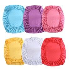 Color sólido Sábana ajustable 100% Algodón 6 Colores de la Hoja de Cama Textiles Para El Hogar ropa de Cama Hoja E5M1