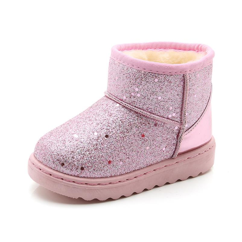HaoChengJiaDe Girls Snow Boots New Fashion Comfortable Thick Warm Kids Boots Thick Children Winter Cute Boys Boots Princess Shoe