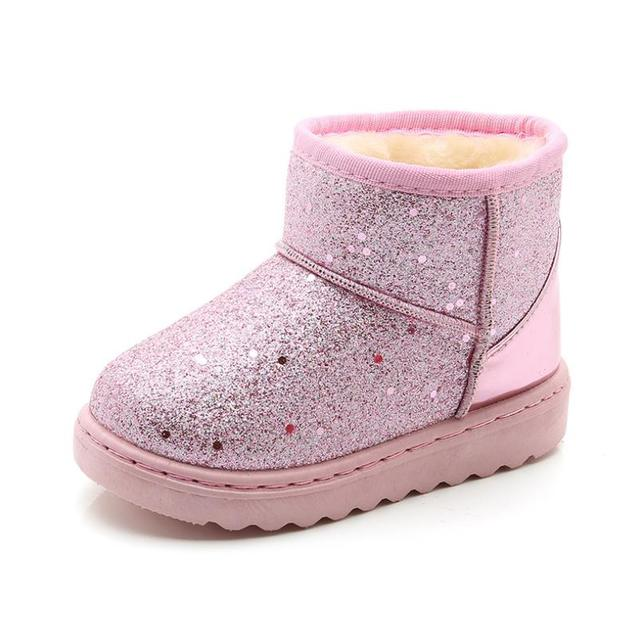9db3d57fa7e HaoChengJiaDe Girls Snow Boots New Fashion Comfortable Thick Warm Kids  Boots Thick Children Winter Cute Boys Boots Princess Shoe