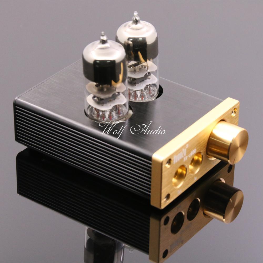 U808 Clase A HiFi 6j9 tubo de vacío Amplificadores de auriculares portátil Amplificadores de auriculares terminado