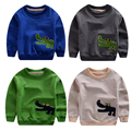 Spring Children Hoodies Crocodile Embroiderd Boy Girl Pullovers Sweatshirts Kids Long Sleeve Cotton Terry Tops T-shirt Outwear