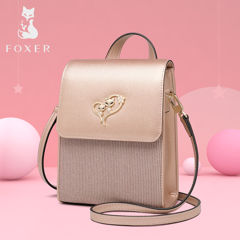 FOXER Brand Lady Cellphone Bags Female Leather Shoulder Bag Girl s MINI Crossbody Bags Women Evening