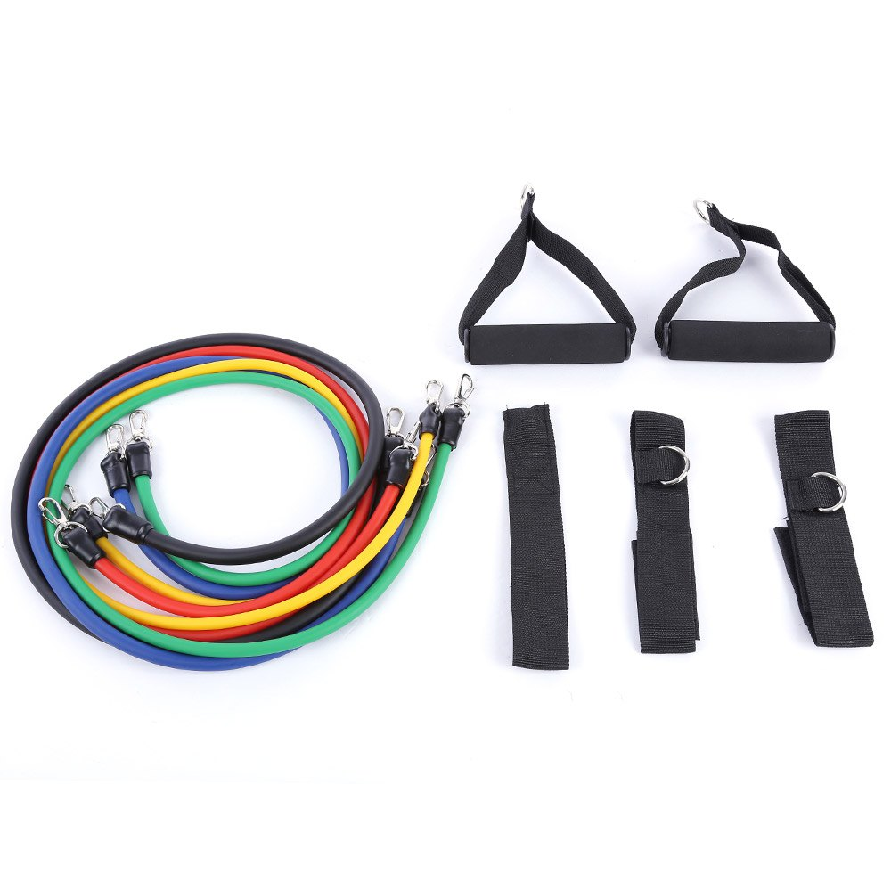 Hot Practical Elastic 11pcs/set Natural Rubber Latex Resistance Bands Training Rope Fitness Exercise Yoga Sport Resistance Bands Beneficial To Essential Medulla Asia & Pacific Islands Clothing Traditional & Cultural Wear