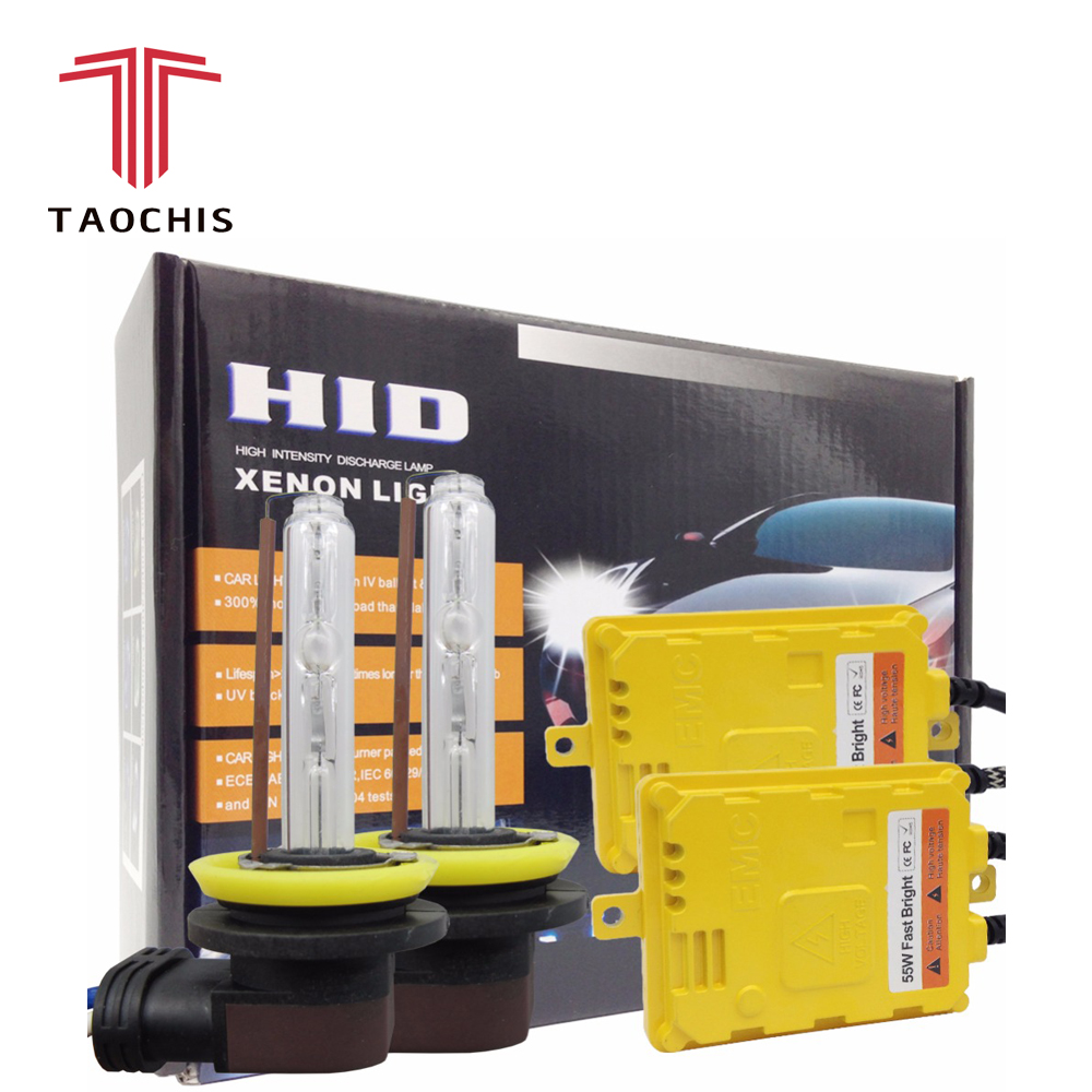Taochis AC 12 В 55 Вт Hid H11 ксеноновые лампы заменить H1 H3 головы свет комплекты быстро яркий H7 9005 9006 с балластом комплект Туман лампа