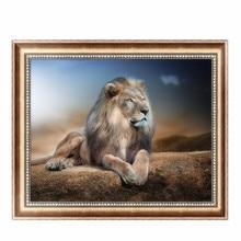 Blue Lion 5D Diamond Embroidery Painting Cross Stitch DIY Craft Home Decor 40*30cm #K400Y#