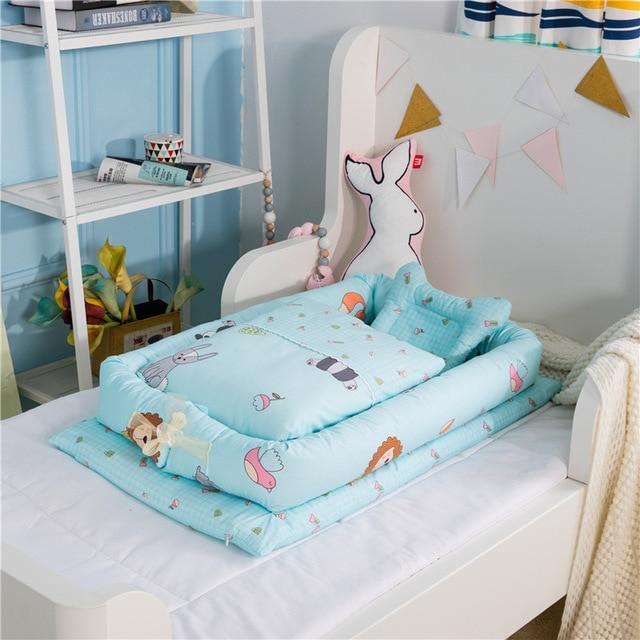 Cuna de bebé portátil con edredón cuna infantil cuna para bebé recién nacido viaje plegable nido de bebé cama para bebé cuidado