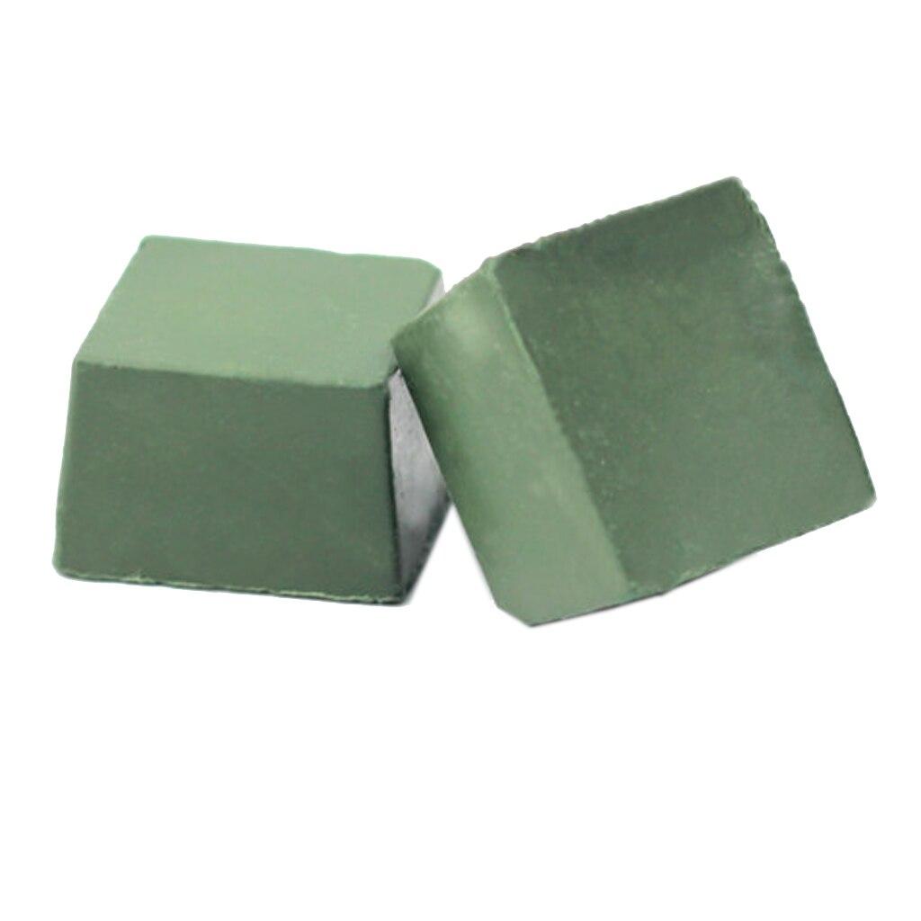 2pcs Alumina Abrasive Jewelry Polishing Paste Buffing Leather Compound Sharpener Metal Grinding Tools Wax Polish Care