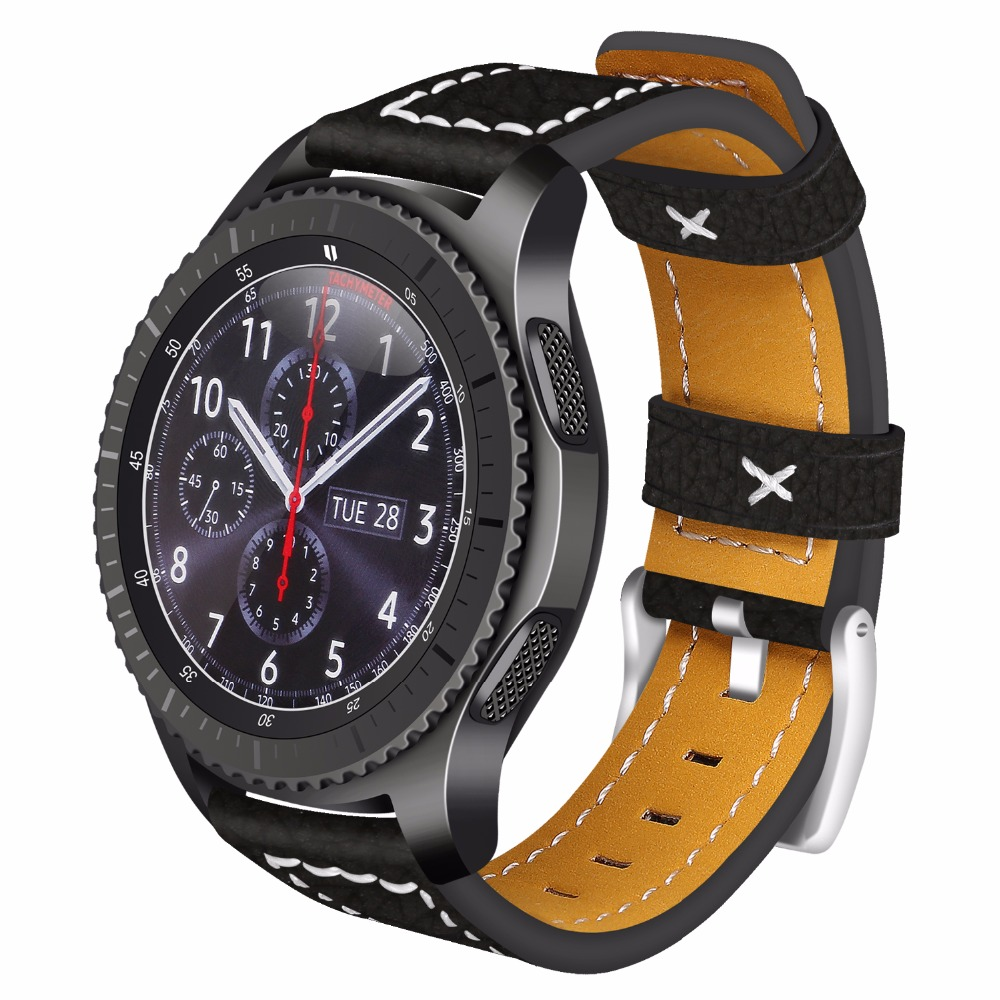 JOYOZY Quick Release Watch Band 22mm Italy Genuine Leather Strap for Samsung Gear S3 Classic Frontier Steel Buckle Wrist Bracele 8 32mm 22pieces metric chrome vanadium crv quick release reversible ratchet combination wrench set gear wrench spanner