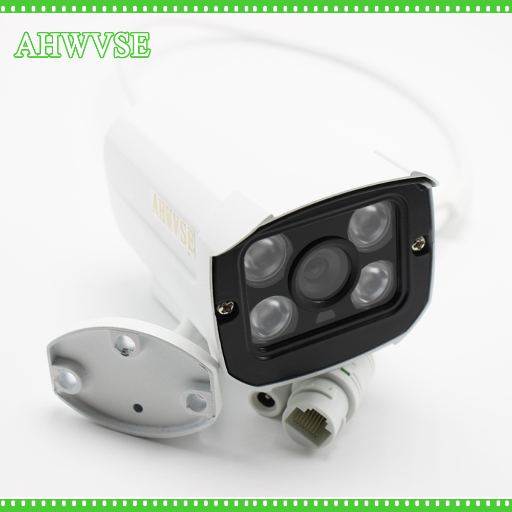 цены AHWVSE New 1080P 960P 720P ONVIF Waterproof Outdoor IR CUT Night Vision P2P Plug and Play Mini Bullet POE IP Camera 2mp