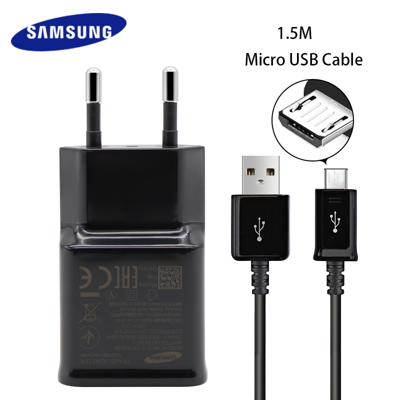 Samsung s6 s7 edge Original Fast Charger Quick Travel Wall 9V1.67A or 5V2A charge adapter Galaxy note4 5 A3 5 8 J3 5 7 Charging