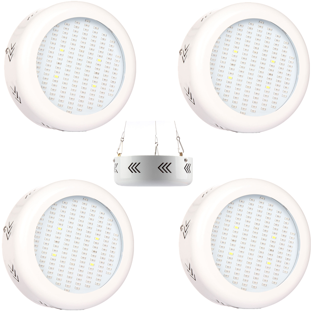 1pcs Epistar UFO 150W Full Spectrum LED Grow Lights Red+Blue+White+UV+IR Grow Lamp for Flower Plant Hydroponics lighting 10pcs lot full spectrum led grow light 216w ufo grow box red blue white warm uv ir for indoor hydroponics plant and flower